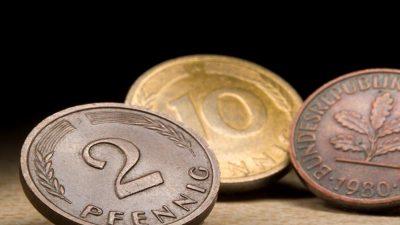 Mark und Pfennig im Milliardenwert noch nicht umgetauscht