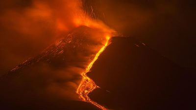 Vulkan Ätna auf Sizilien gewachsen