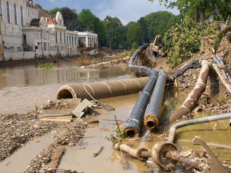 Hochwasser schwemmte 350 Kilogramm Munition frei