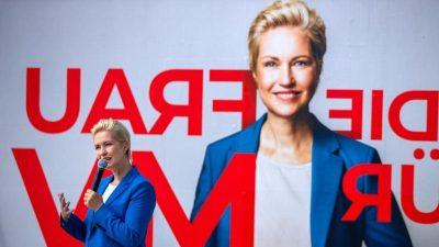 SPD in Mecklenburg-Vorpommern deutlich vorn – AfD und CDU gleichauf