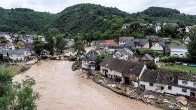 Belastungen in Wasserproben aus Ahr nach Flutkatastrophe steigen