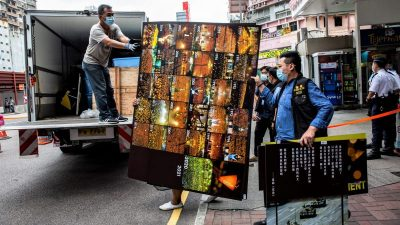 Polizei in Hongkong durchsucht Tiananmen-Museum