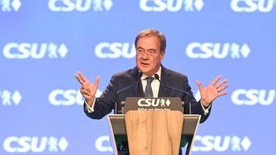 Laschet weiter überzeugt vom Wahlsieg der Union