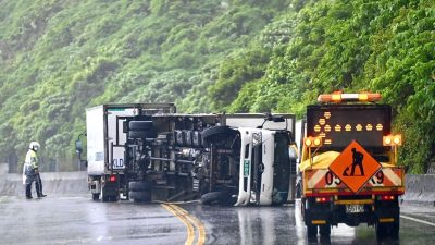 """Taiwan: Taifun """"Chanthu"""" sorgt für heftigen Wind und Starkregen"""