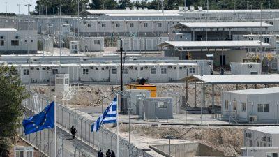 Insel Samos: Neues Flüchtlingslager mit Magnettüren und Röntgenscannern eröffnet