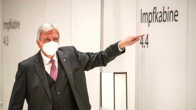 """""""Man kann nicht alles zu machen"""": Bouffier fordert PCR-Testpflicht für Ungeimpfte"""