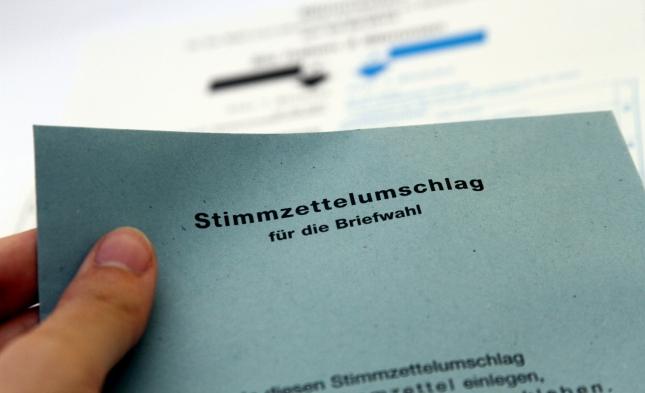 Bundeswahlleiter empfiehlt frühzeitigen Antrag auf Briefwahl