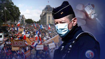 Frankreich: Polizeigewerkschaft beklagt Impfdruck auf Beamte