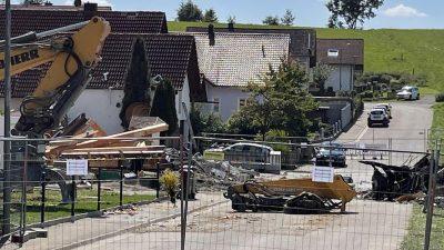Weiter Rätsel um Hausexplosion in Rohrbach