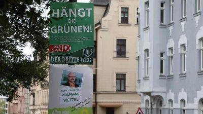 """""""Hängt die Grünen"""" – Plakate nun auch in Sachsen verboten"""