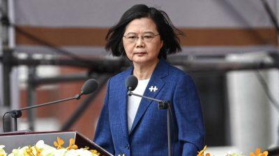 Taiwans Regierungschefin gibt sich unbeugsam