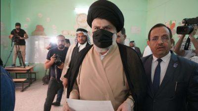 Bewegung des Geistlichen al-Sadr verkündet Wahlsieg bei Parlamentswahl im Irak
