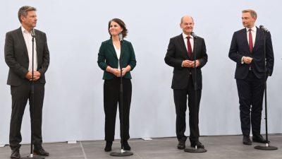 Ampel-Koalition: Habeck zuversichtlich – Kritik bei Finanzen