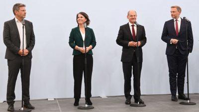 SPD, Grüne und FDP empfehlen Koalitionsverhandlungen im Bund