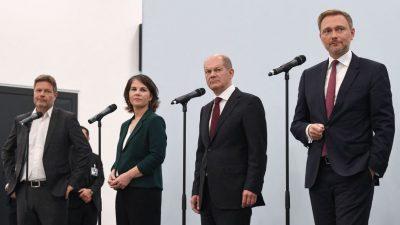 """Die Koalitionsverhandlungen über die """"Ampel"""" dürften holprig werden"""