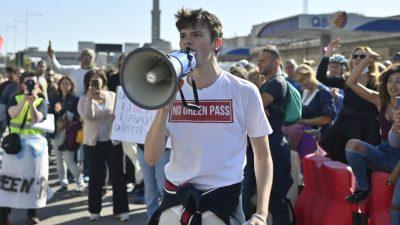 Kein Corona-Pass, keine Arbeit – Tausende Italiener protestieren