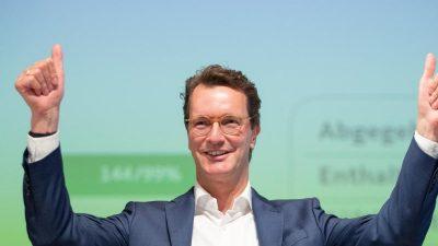 Hendrik Wüst zum CDU-Chef in NRW gewählt